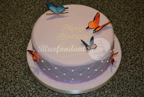 Butterfly Cake Bluefondant Cake Design